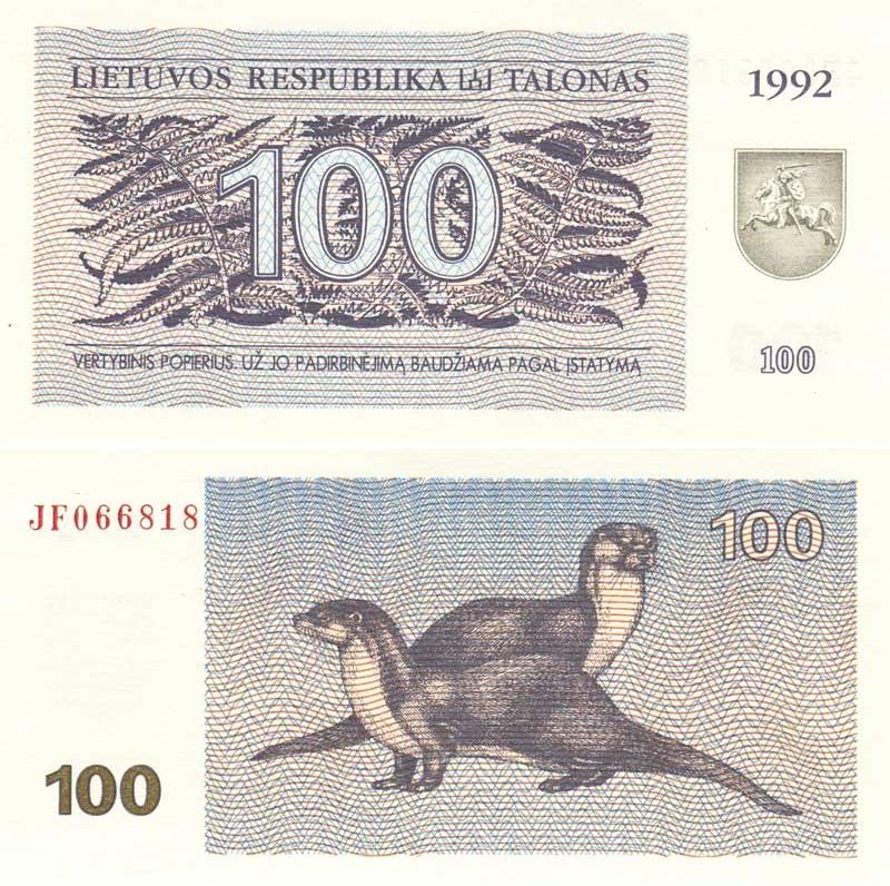 Lietuviški talonai | 100 | 1992