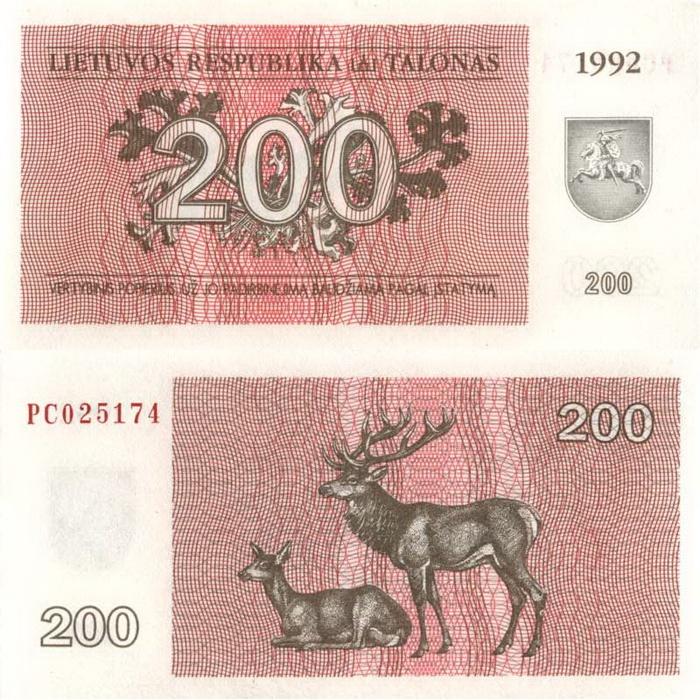 Lietuviški talonai | 200 | 1992